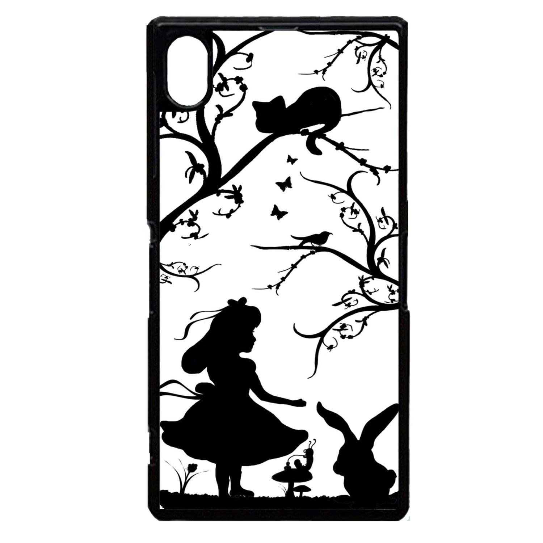 Sony Xperia sony xperia z2 phone case : ... Sony Xperia Z2 Alice in wonderland pretty silhouette pattern phone