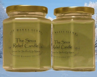 Sinus Relief Candle - Homemade Blended Soy Candle for Relief of Sinus Congestion (Free Shipping on Mix & Match Orders of 6 or More)