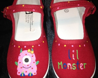 Hand Painted Monster Shoes