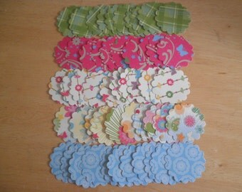 """2"""" Scallop Circle Die Cuts Multicolor set of 50 - perfect for scrapbooking, cards, showers, embellishments"""