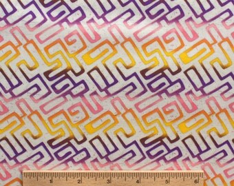 Dan Bennett fabric Premier Lord Maize DB11 Yellow pink purple white abstract geometric Sewing Quilting fabric cotton by the yard Free Spirit
