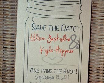 Wedding Save the Date Mason Jar