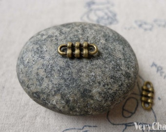 45 pcs of Antique Bronze Tiny Connector Charms 5x12mm A6889