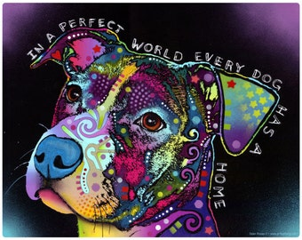 Perfect World Pit Bull Dog Dean Russo Wall Decal #44079