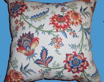 Floral throw Pillow, Floral decorative pillow,