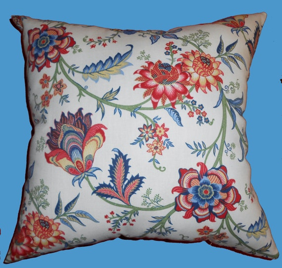 Floral throw Pillow Floral decorative pillow