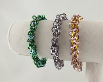Shimmy Square Chain Maille Bracelet (various colours) Shaggy Loops
