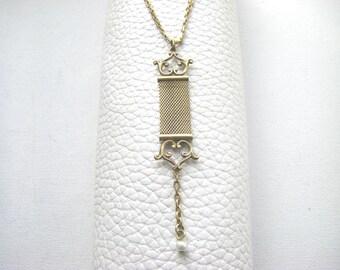 Victorian Gold Platet Antique Necklace, Antique Victorian Pendant necklace Vintage Victorian