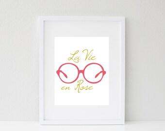 8x10 La Vie en Rose Print
