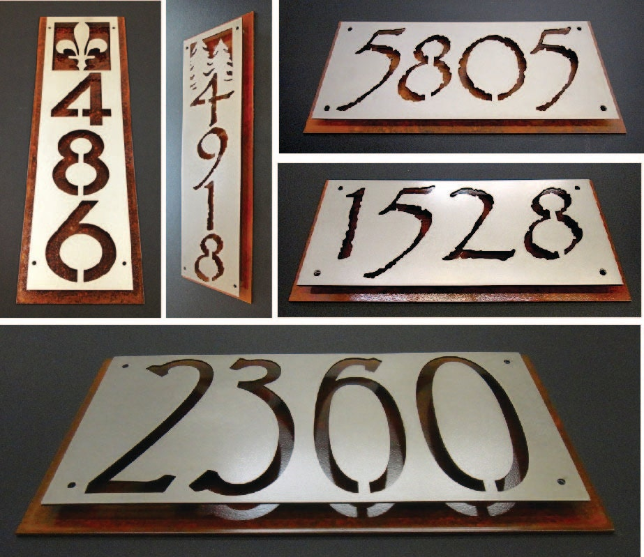 custom rusted steel address plaque by rancidmetals on etsy