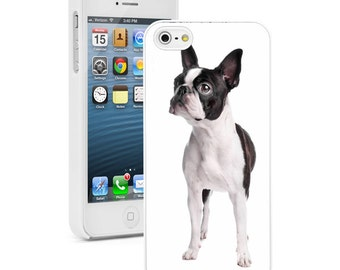 For Apple iPhone SE 4 4s 5 5s 5c 6 6s 7 Plus Hard Case Cover 761 Boston Terrier Dog