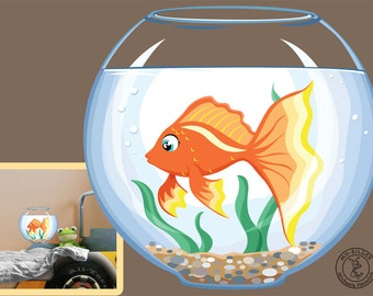 "Wall decal ""goldfish"""