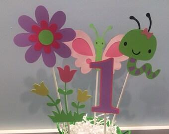 5 Piece Garden Bug Centerpiece; Ladybug; Butterfly; Caterpillar; Bee
