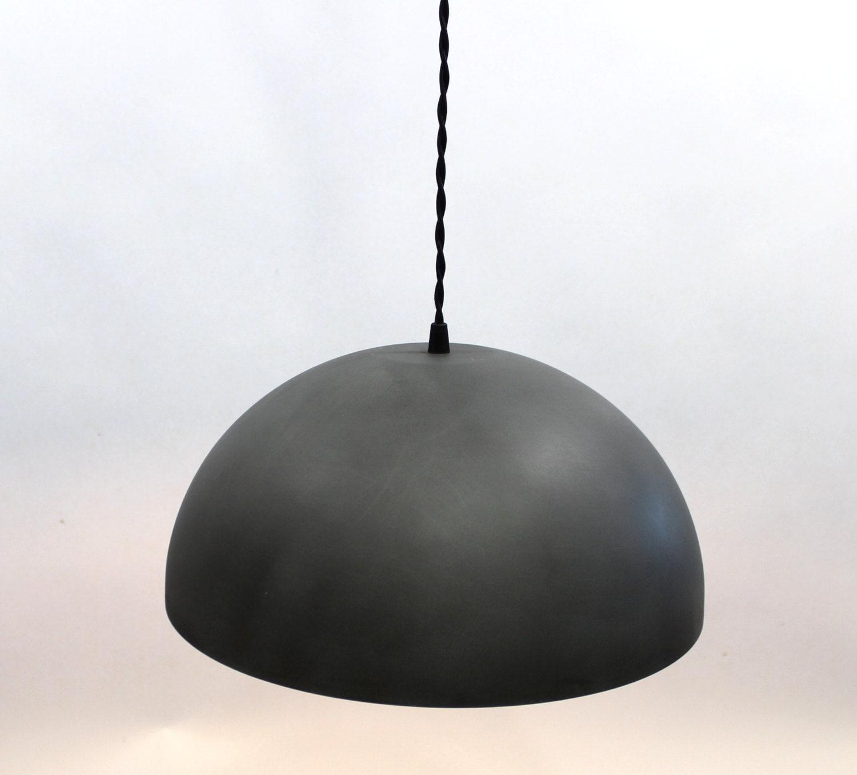 large zinc dome pendant light