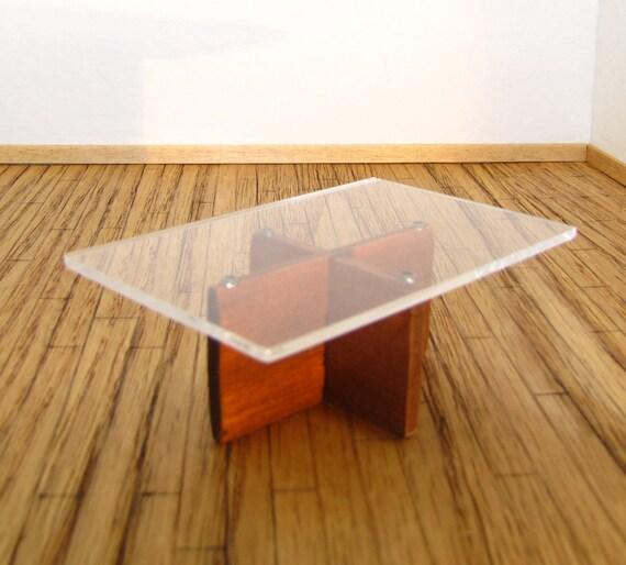 Dollhouse Furniture Modern Teak And Plexiglass By Debbysminis