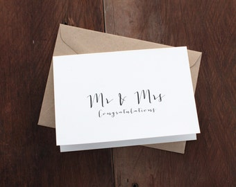 Mr & Mrs Congratulations Gift Card