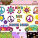 40% Off! Peace & Love Digital Clip Art Instant Download