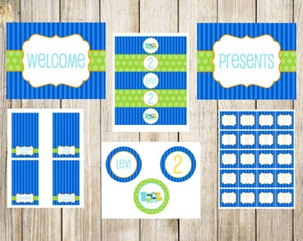 Blue Pool Party Printable Package