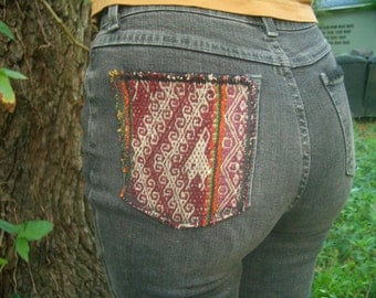 SALE* Ethnic High Waisted Black Jeans
