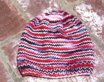 Red, White, and Blue Toddler Summer Slouchy Hat