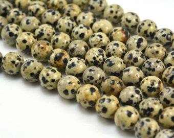 dalmatian jasper beads - jasper stone beads - jewelry beads and supplies - jasper gemstone beads - 4mm-16mm round beads - 15 inch