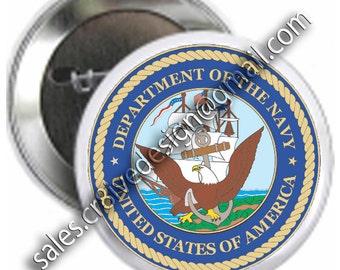 Navy 2.25 inch  button