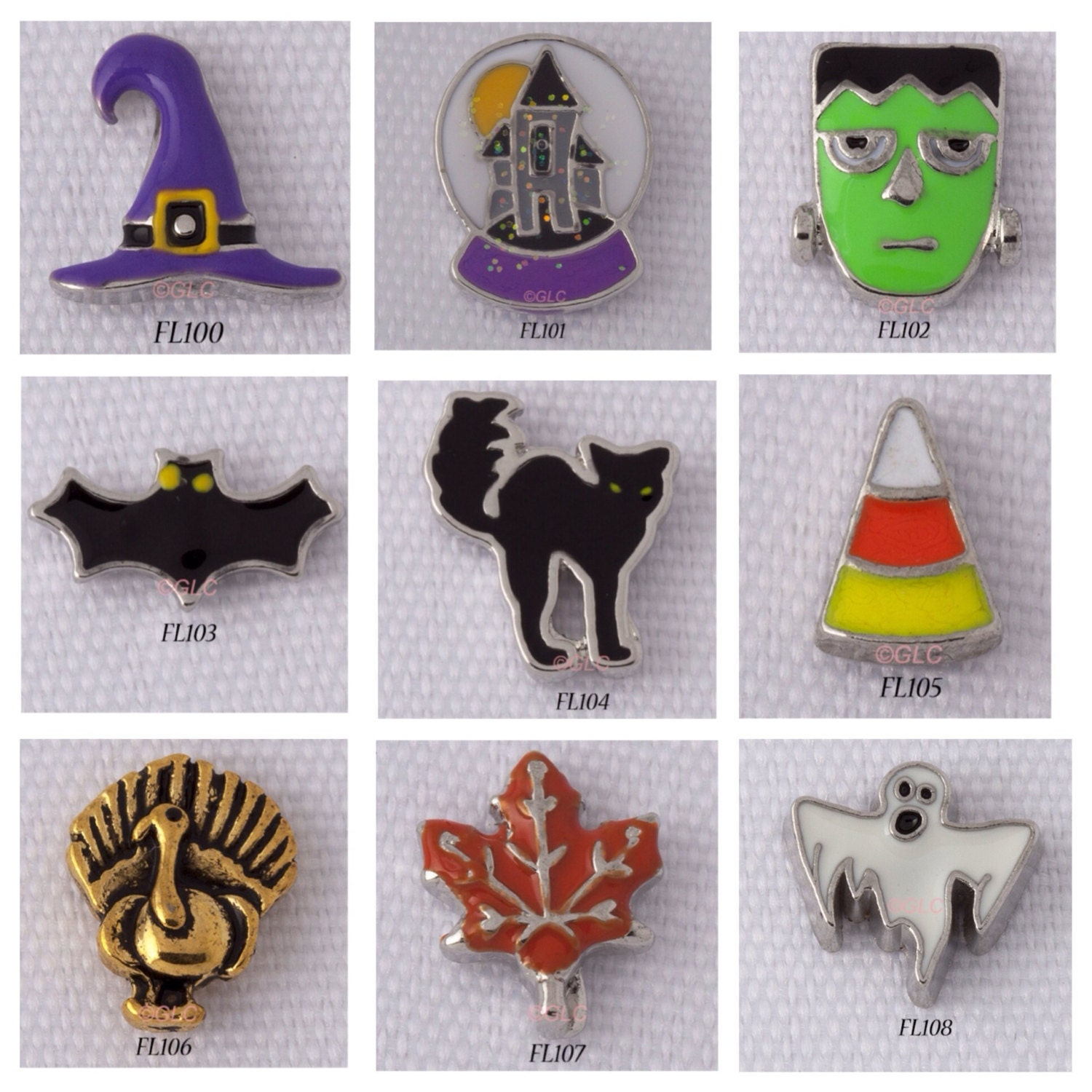 fall floating charms for glass lockets from
