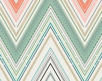 Modern Quilt Fabric, Rapture by Pat Bravo, Vivacious Marvel, Chevron Fabric, Art Gallery Fabrics, Modern Fabric, Fabric by the yard, Pastel