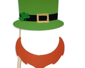 Photo Booth Props- St Patricks Day Props- Holiday Photo Booth