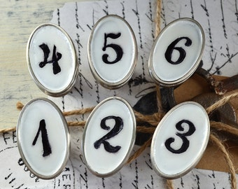 Vintage Look Custom Numbered Drawer Pulls
