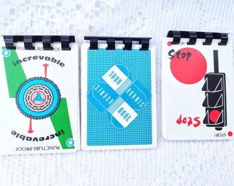 Mille Bornes (1000 Bornes) notebook / booklet /notepad - Vintage up-cycled / recycled / repurposed