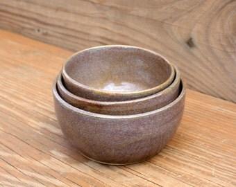 sch ssel set stapelbar steinzeug keramik von littleriverpottery. Black Bedroom Furniture Sets. Home Design Ideas
