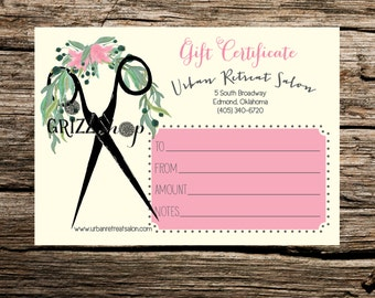 Set of 50 Salon Gift Certificates