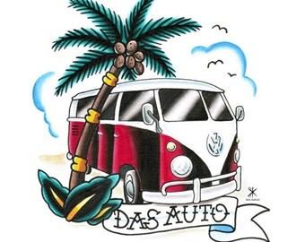 11x17 VW Bus