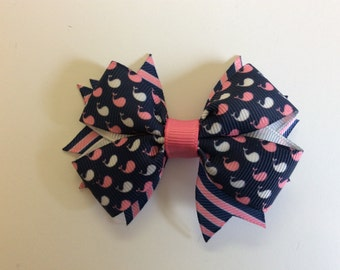 Whale Bow with Striped Spikes