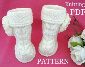Knitting Pattern Baby Booties Baby Shoes Baby Uggs Knit Baby Girl Baby Boy Newborn Pattern Knitted Baby Clothes Babies Infant Booty ( PDF )