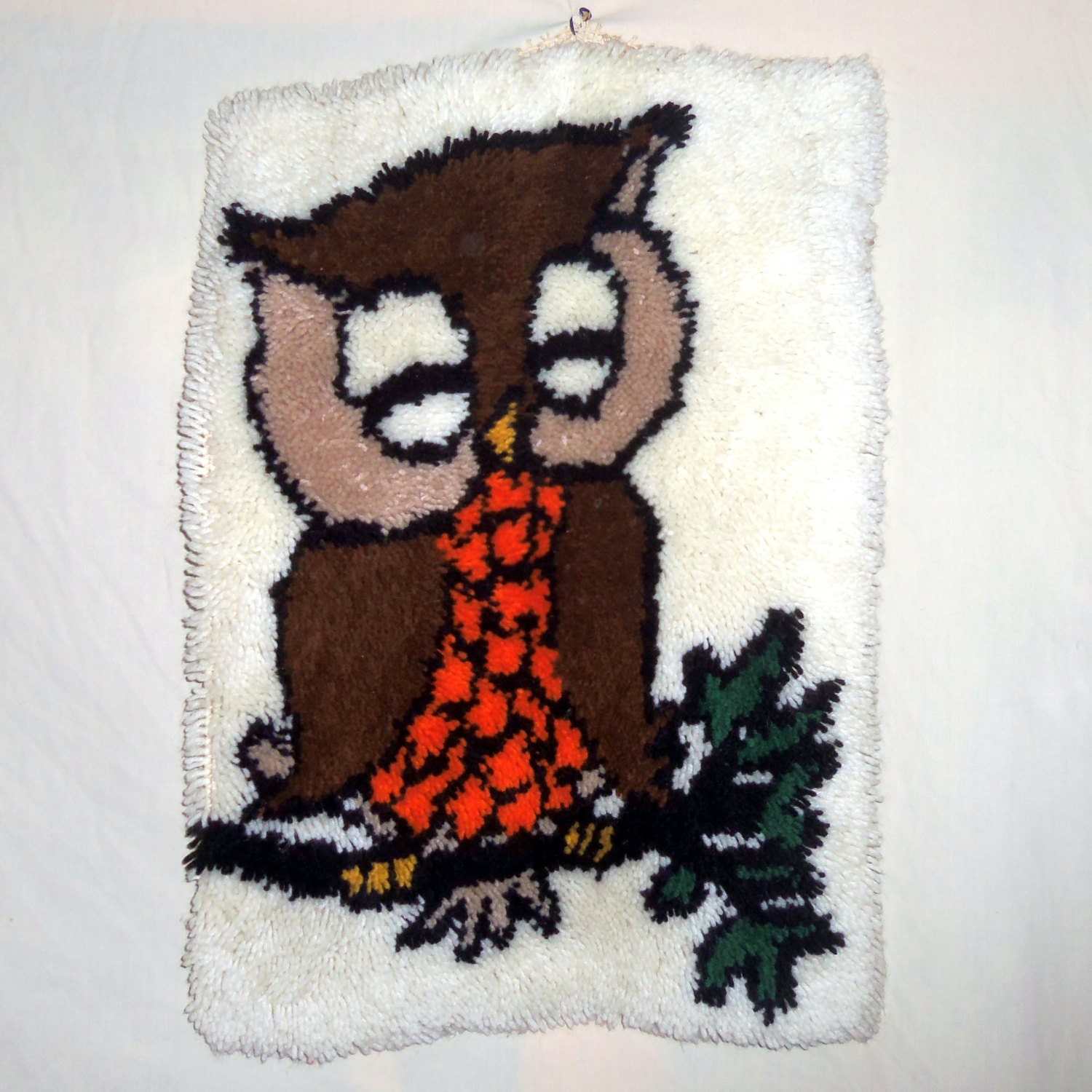 Vintage Owl Yarn Rug Latch Hook By TheJunkinSailor On Etsy