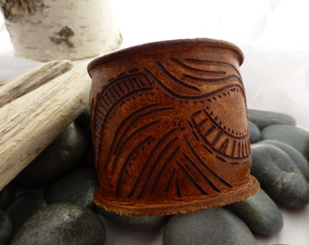 Boiled leather cuff