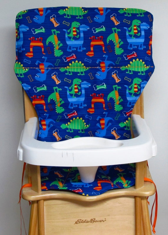 High chair cover eddie bauer replacement high chair pad dino dudes