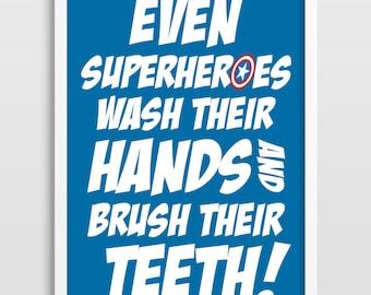 Superhero, Superheroes, Superhero Wall Art, Kids Poster, Kids Art Print, Superhero Art Print, Bedroom Decor, Kids Wall Art.