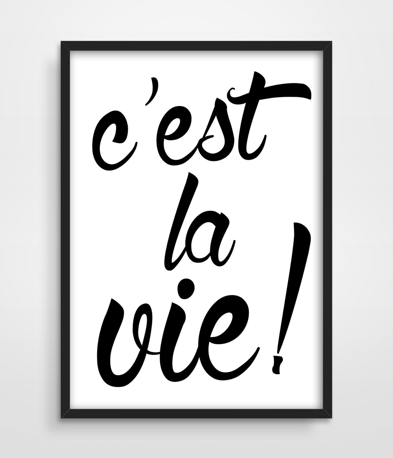City Of Ember Quotes And Page Number: Typographic Print C'est La Vie Inspirational Quote