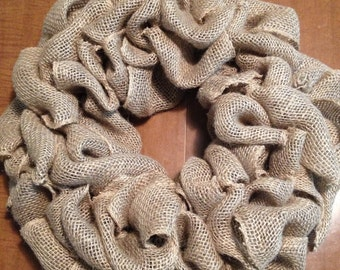 How to make a burlap wreath tutorial INSTANT download