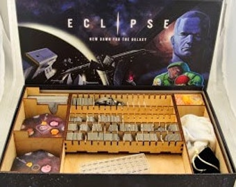 Eclipse board game, wood insert to store all components, storage solution