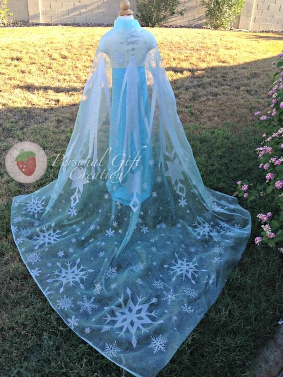 Elsa frozen del capo in organza pannello di personalgcreation