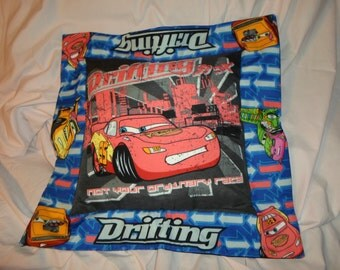 Drifting with the need for speed  Kids Throw Pillow with Lightning McQueen, 95 Cars Themed