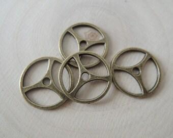 30 pcs 19mm Antique bronze gears wheels (A271)