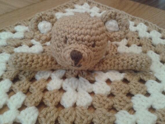 Teddy Bear Security Blanket Baby Lovey Comforter Blankie ...