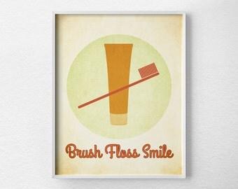 Bathroom Print, Vintage Bathroom Art, Kids Bathroom Art, Bathroom Art, Bathroom Decor, Retro Bathroom, Bathroom Wall Decor, 0043