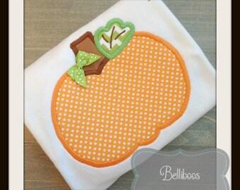 Pumpkin Applique Design - Fall Applique Design - Halloween Applique Design - Thanksgiving Applique - Applique Design - Embroidery Design -