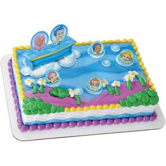 Bubble Guppies Cake Topper Etsy
